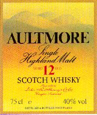 AULTMORE - Scotch Whisky