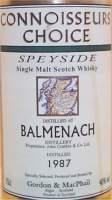 Balmenach Speyside scotch whisky - Gordon MacPhail - Connoisseurs Choice Label