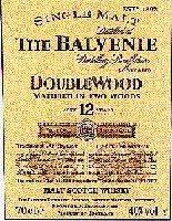 Balvenie DoubleWood label.