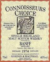 Banff Label from Connoisseurs Choice vintage 1974