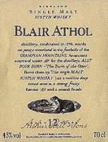 Blair Athol whisky label.