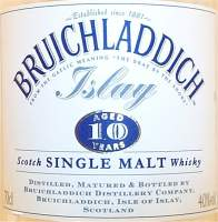 Bruichladdich <br />10 years old label