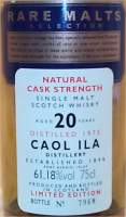 Caol Ila cask strength 20 years old