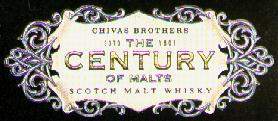 Century of malts Scotch malt whisky from The Chivas Brothers
