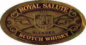 Royal Salute - The logo on the bottle.