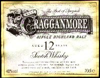 Cragganmore the label D and J McCallum Ltd Edinburgh