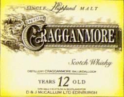 Cragganmore the label D and J McCallum Ltd Edinburgh