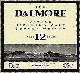 Dalmore Whisky label.