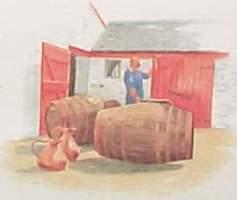 Edradour whisky barrels