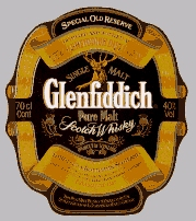 The Glenfiddich label