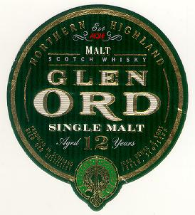 The Glen Ord Main label...
