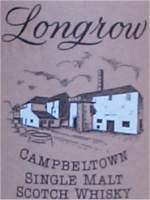 Longrow picture on the back of 10 years old Campbeltown Single Malt J and A Michell Colt - label
