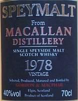 MacAllan vintage 1978 from Gordon MacPhail