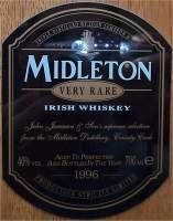 Midleton Irish Whisky 1996 label