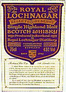 Royal Lochnagar, Scotch Whisky, Single Highland Malt.