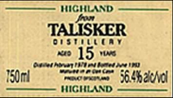 Talisker 15 yo vintage 1970 56.4