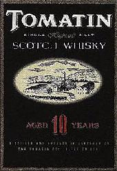 Tomatin Scotch Whisky 10 years old the label