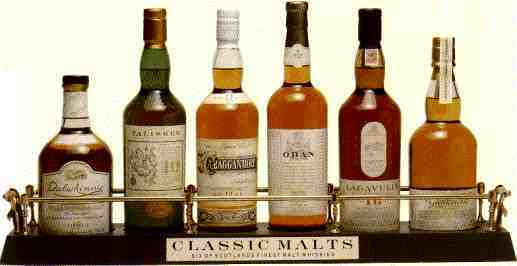 The Six Classic Malts of Scotland. / With a link to a Scotland Midifile...
