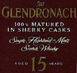 The Glendronach Whisky, Whisky logo from the front of the whisky box.