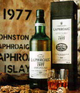 Laphroaig 1977 18 Years old - 43% vol - The bottle.